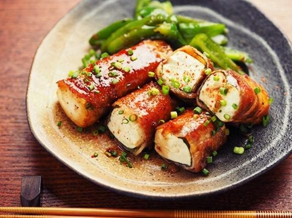肉巻き豆腐ハンバーグ